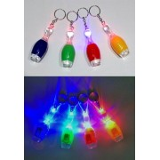 LED Cloured Pin Keychain